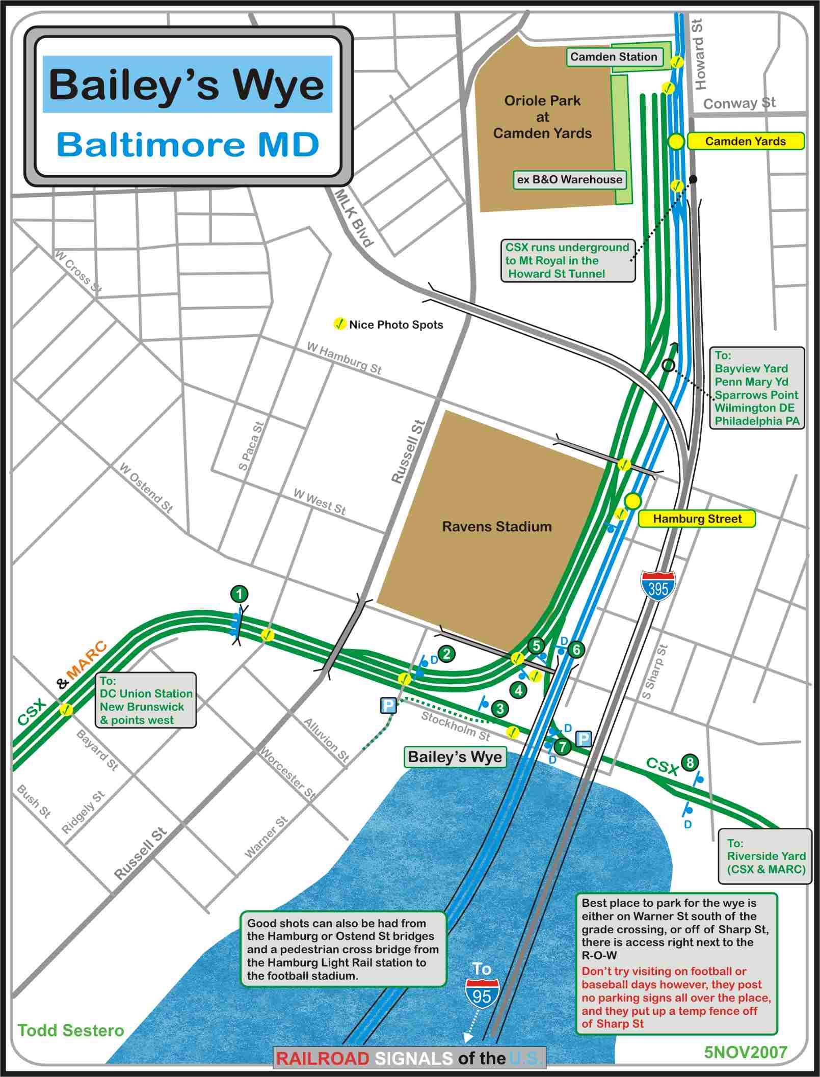Baileys Wye - Baltimore MD Railfan Guide