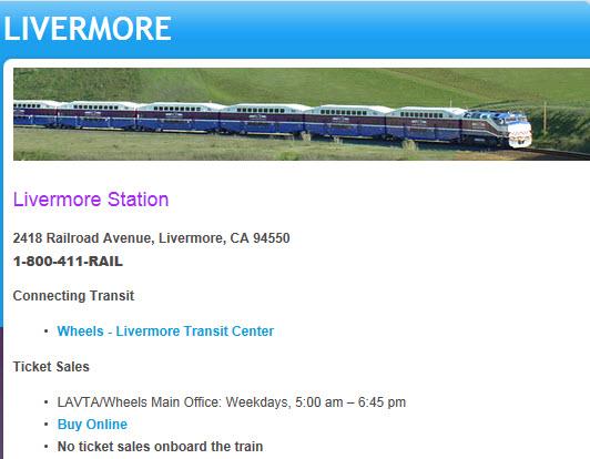 ace train station livermore ca