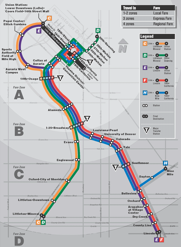 Denver CO RTD Light Rail System