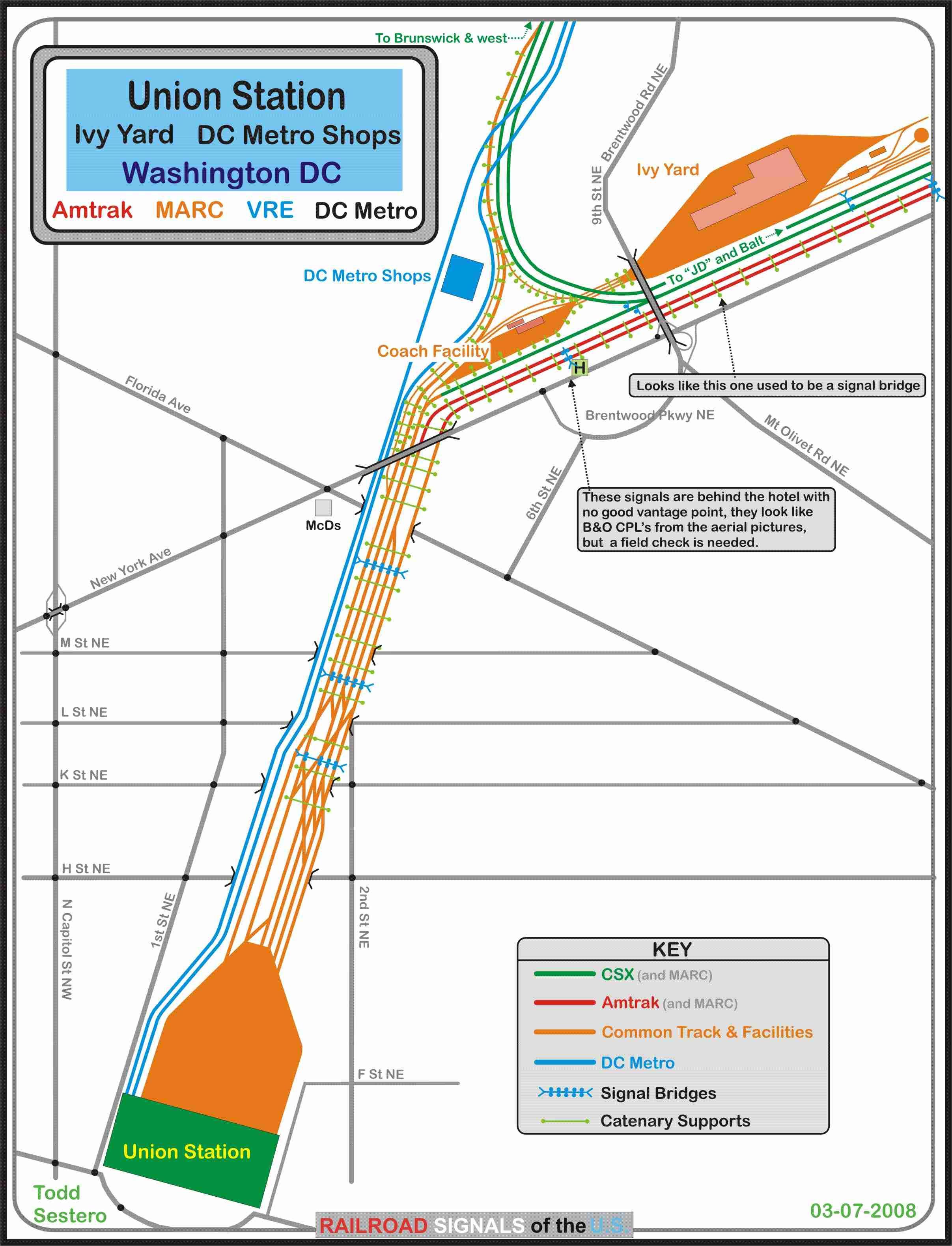 Railfan Guide To Washington DC Union Station - Washington dc bridges map