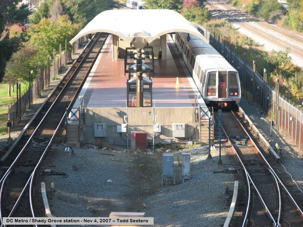 The dc metro system the red line for Shady grove