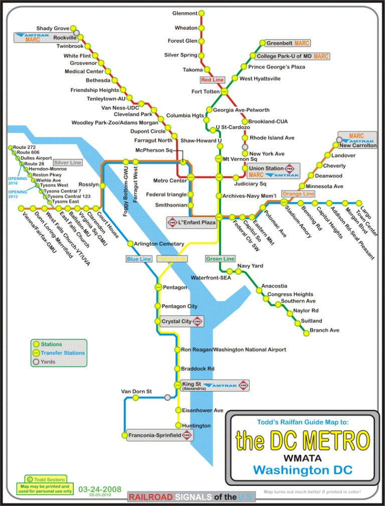 Dc Subway Map Silver Line.The Dc Metro System The Silver Line