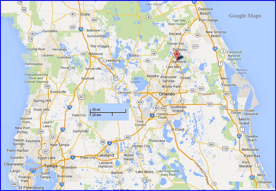 Google Map Ormond Beach Fl