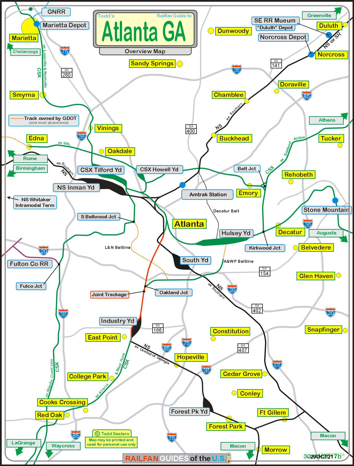 Atlanta GA Railfan Guide RSUS