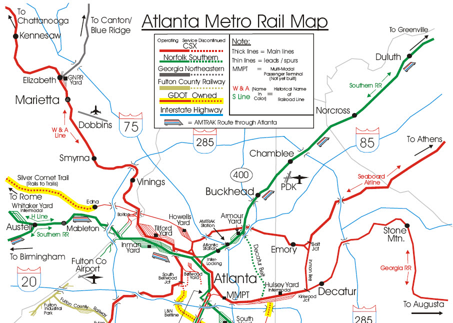Atlanta GA Railfan Guide RSUS