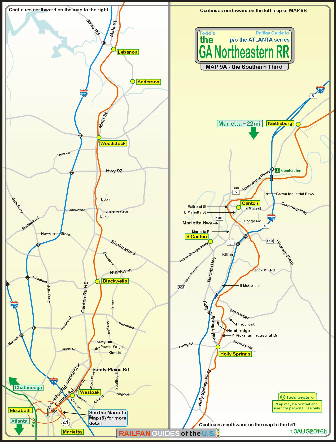 Railroad Map Of Georgia.Gnrr Railfan Guide