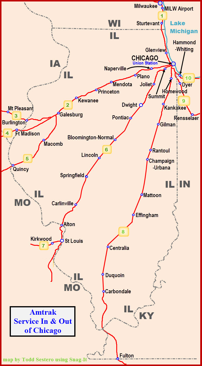 Amtrak Hiawatha Service Out Of Chicago - Chicago amtrak map