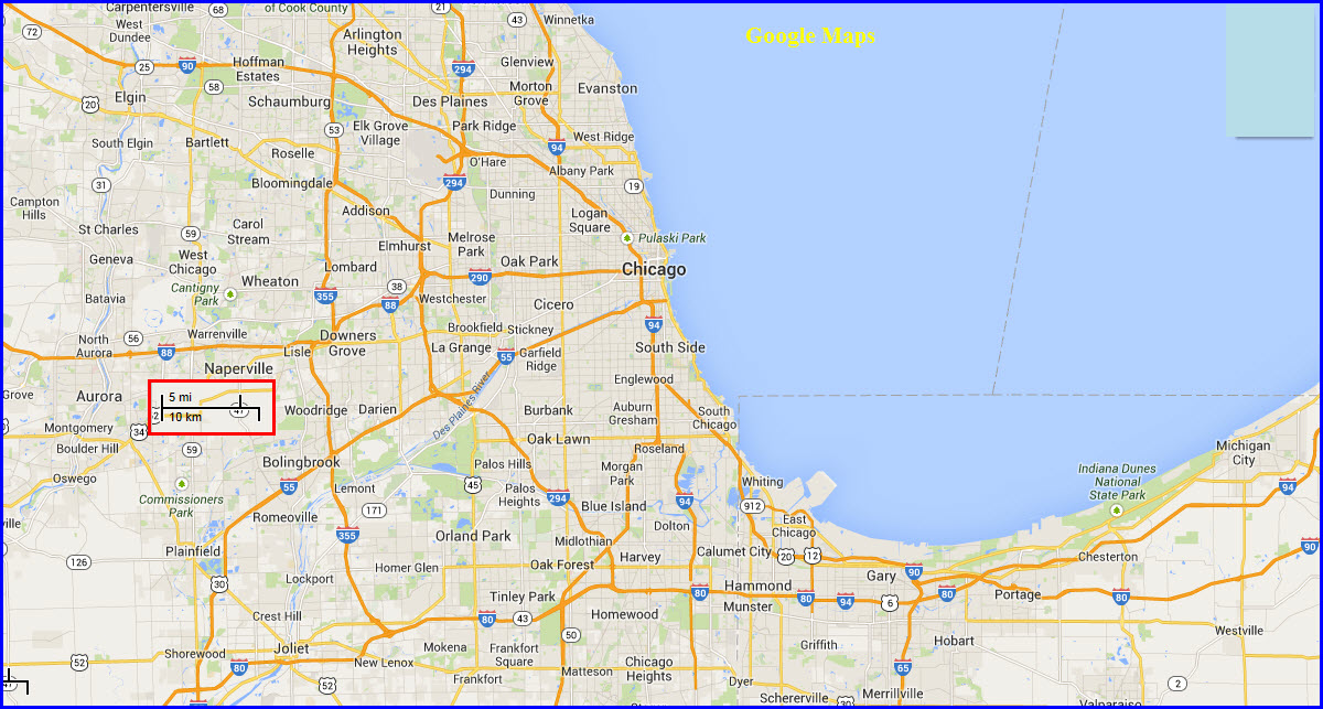 Chicago Illinois Map Related Keywords Amp Suggestions