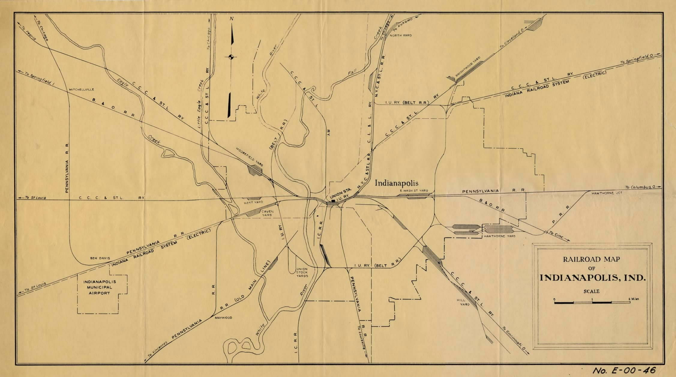 Indianapolis IN Railfan Guide Homepage - Old us railroad map