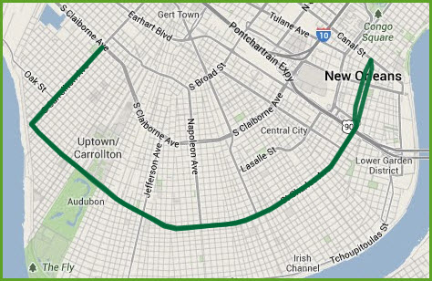 Streetcar In New Orleans Map.New Orleans Streetcars