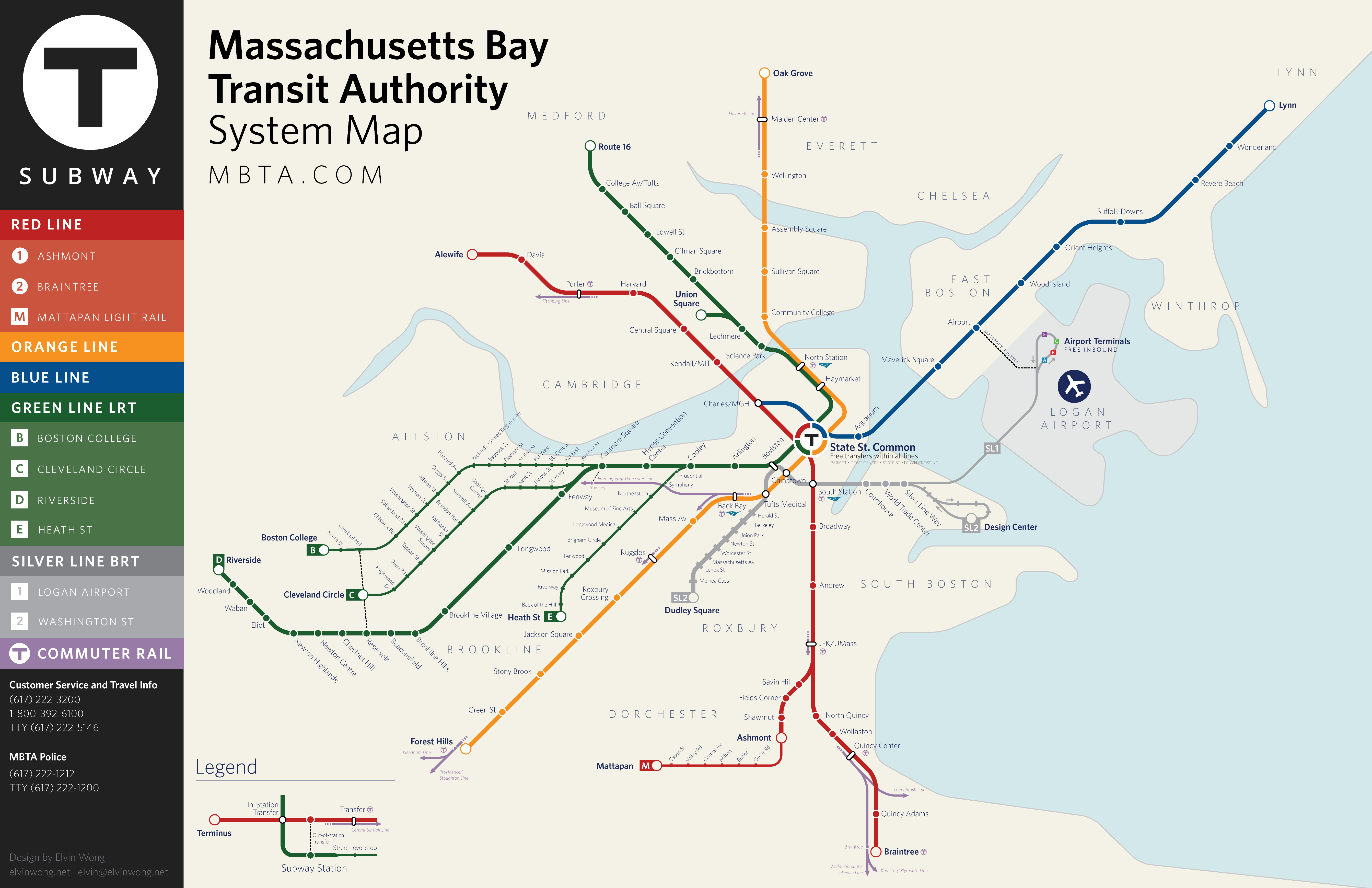 Boston MA Light And Heavy Rail Systems - New york to boston rail on map of us