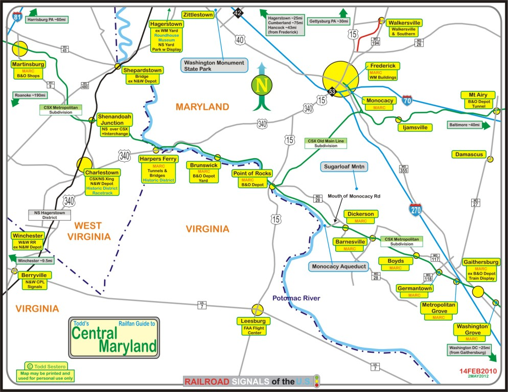 Click Here For The Central Md Map In Pdf Version
