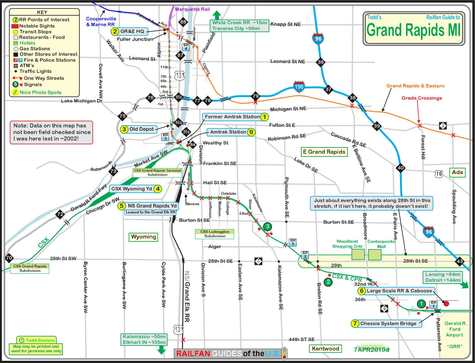 Grand Rapids Mi Railfan Guide