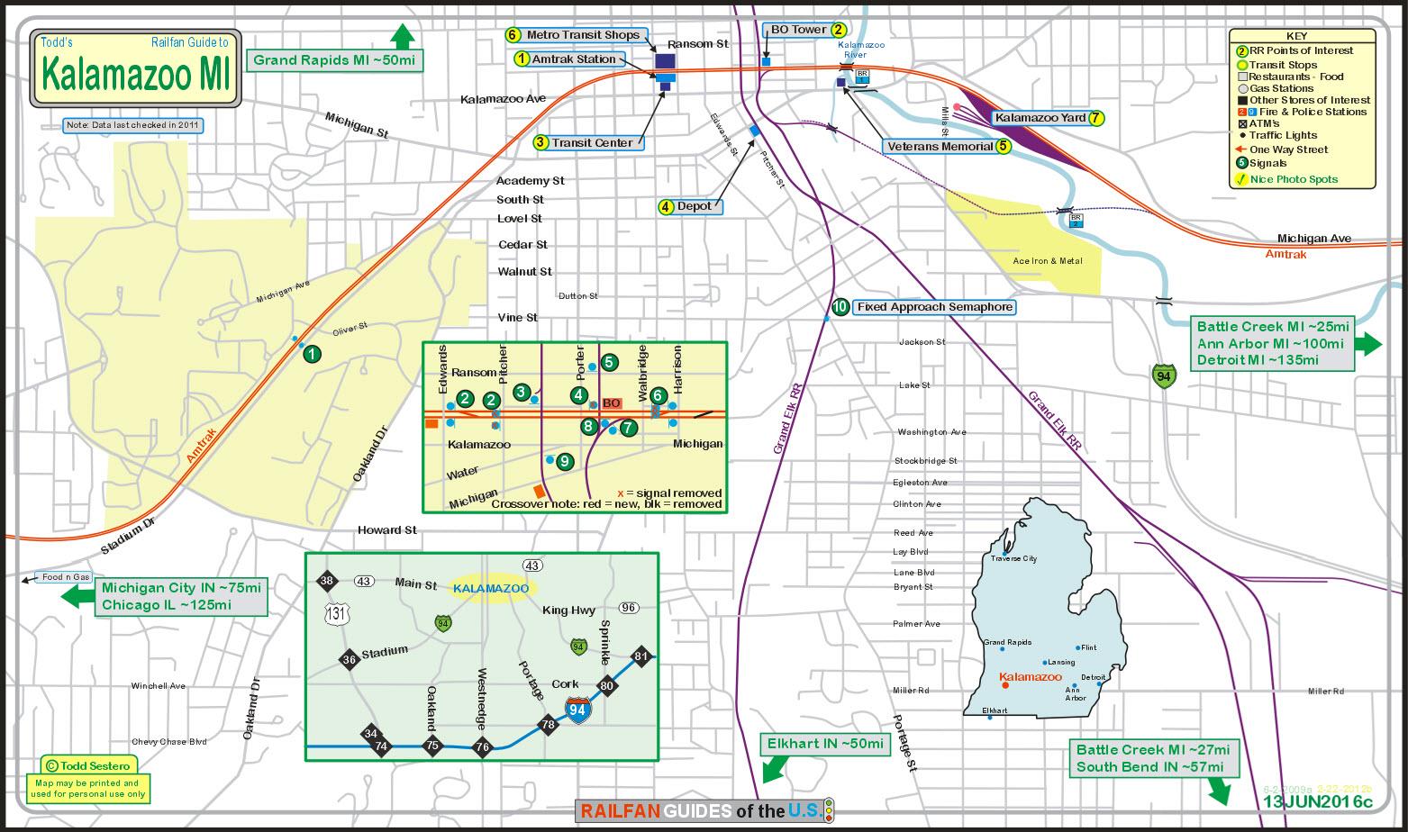 Kalamazoo MI Railfan Guide