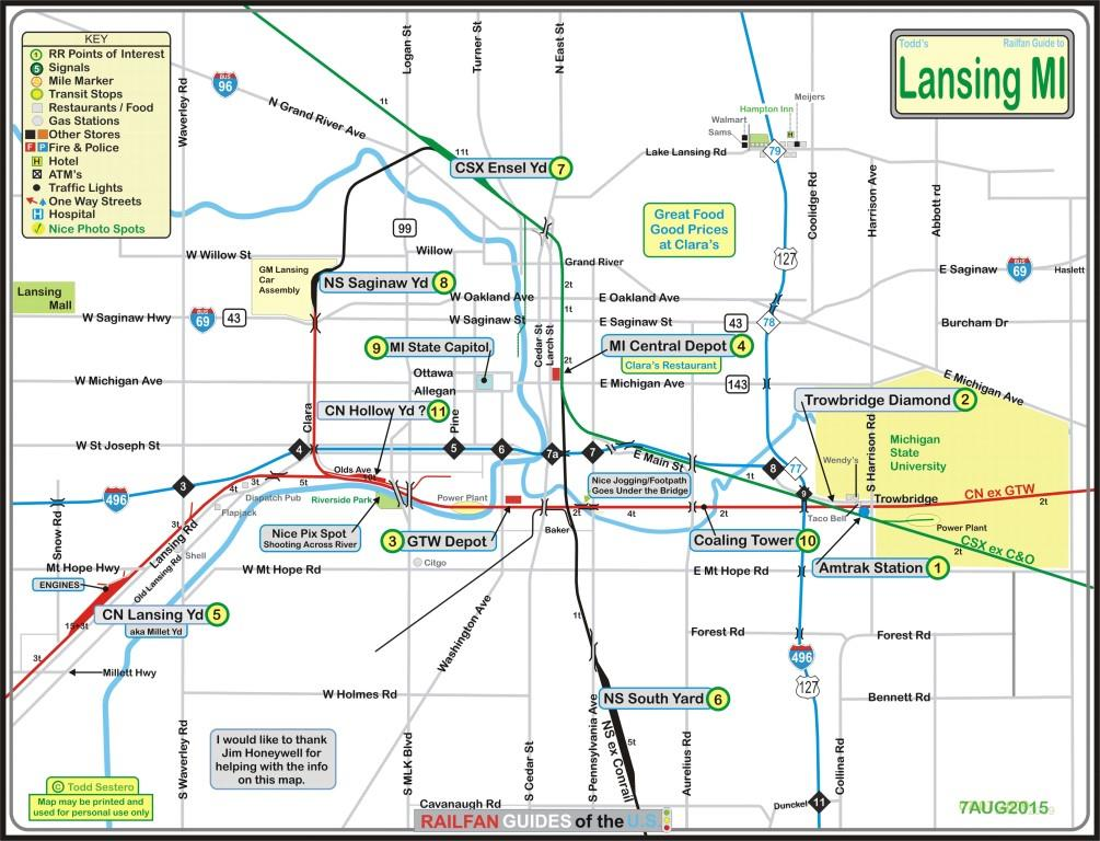 Lansing MI Railfan Guide