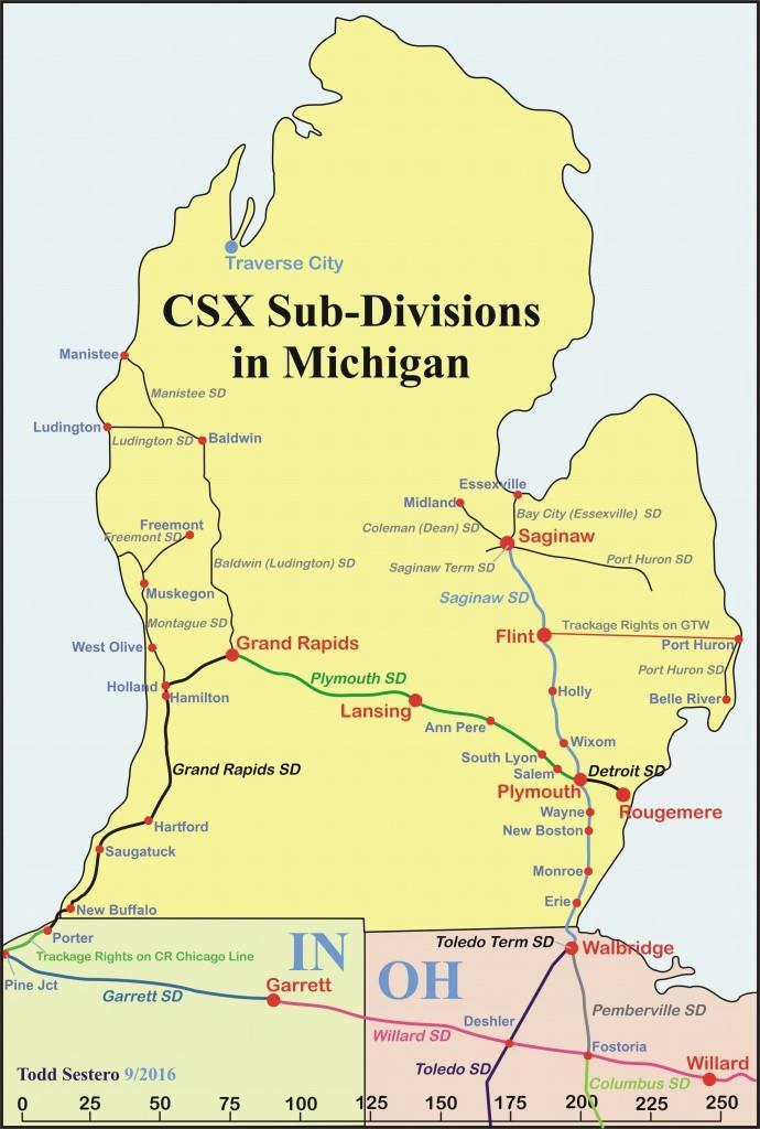 Plymouth Diamond MI Railfan Guide - Csx railroad map