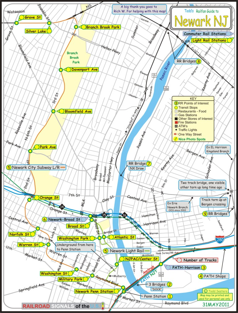 Newark New Jersey Subway Map.Railfan Guide To Newark Nj Rsus
