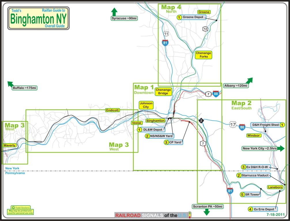 Binghamton NY Railfan Guide - Index page