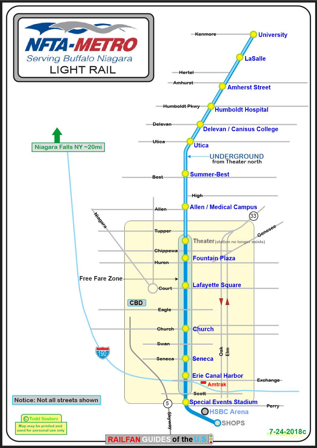 Buffalo Subway Map.Buffalo S Light Rail System