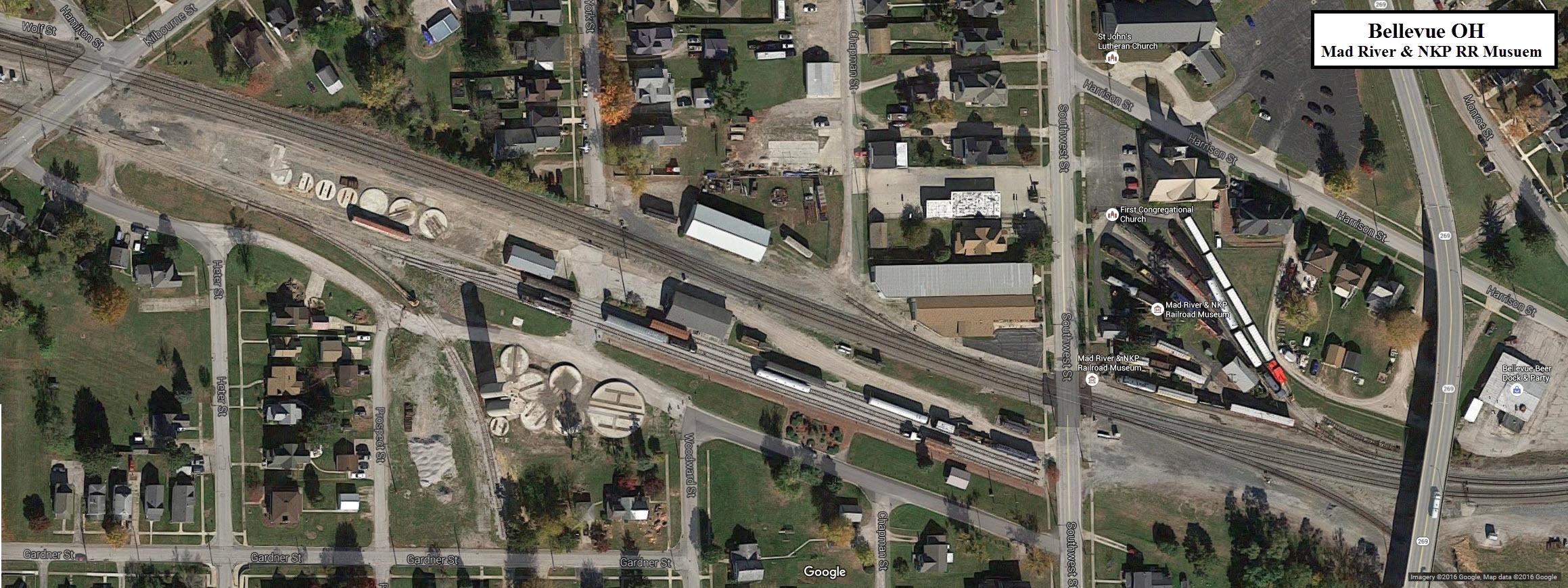 Bellevue OH Railfan Guide - Us railroad map 2016 ohio