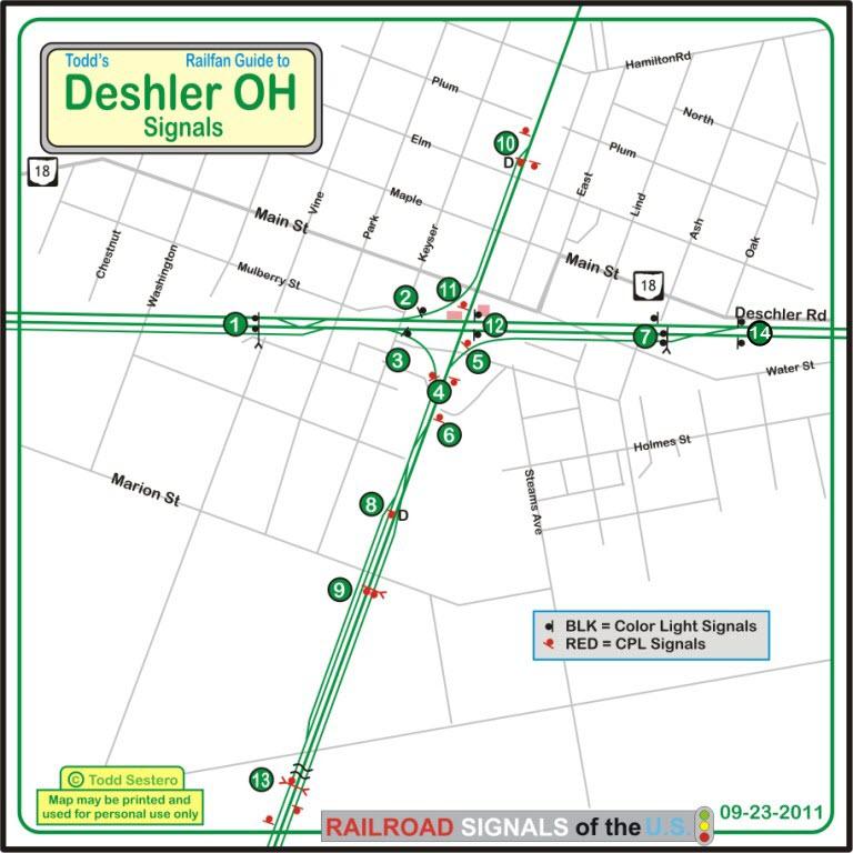Deshler Ohio Map.Deshler Oh Railfan Guide