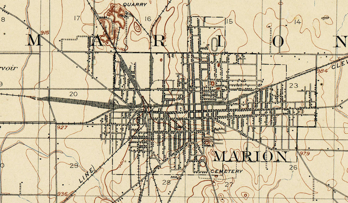 Marion OH Railfan Guide - Us railroad map 2016 ohio