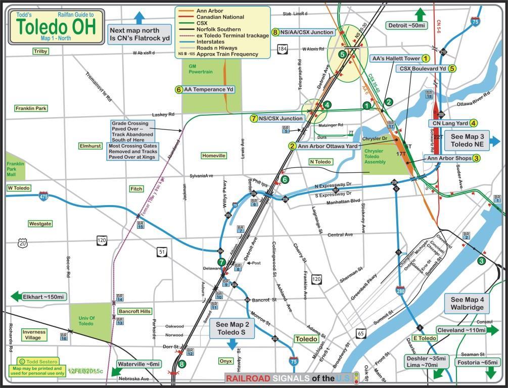Toledo OH Railfan Guide Toledo North
