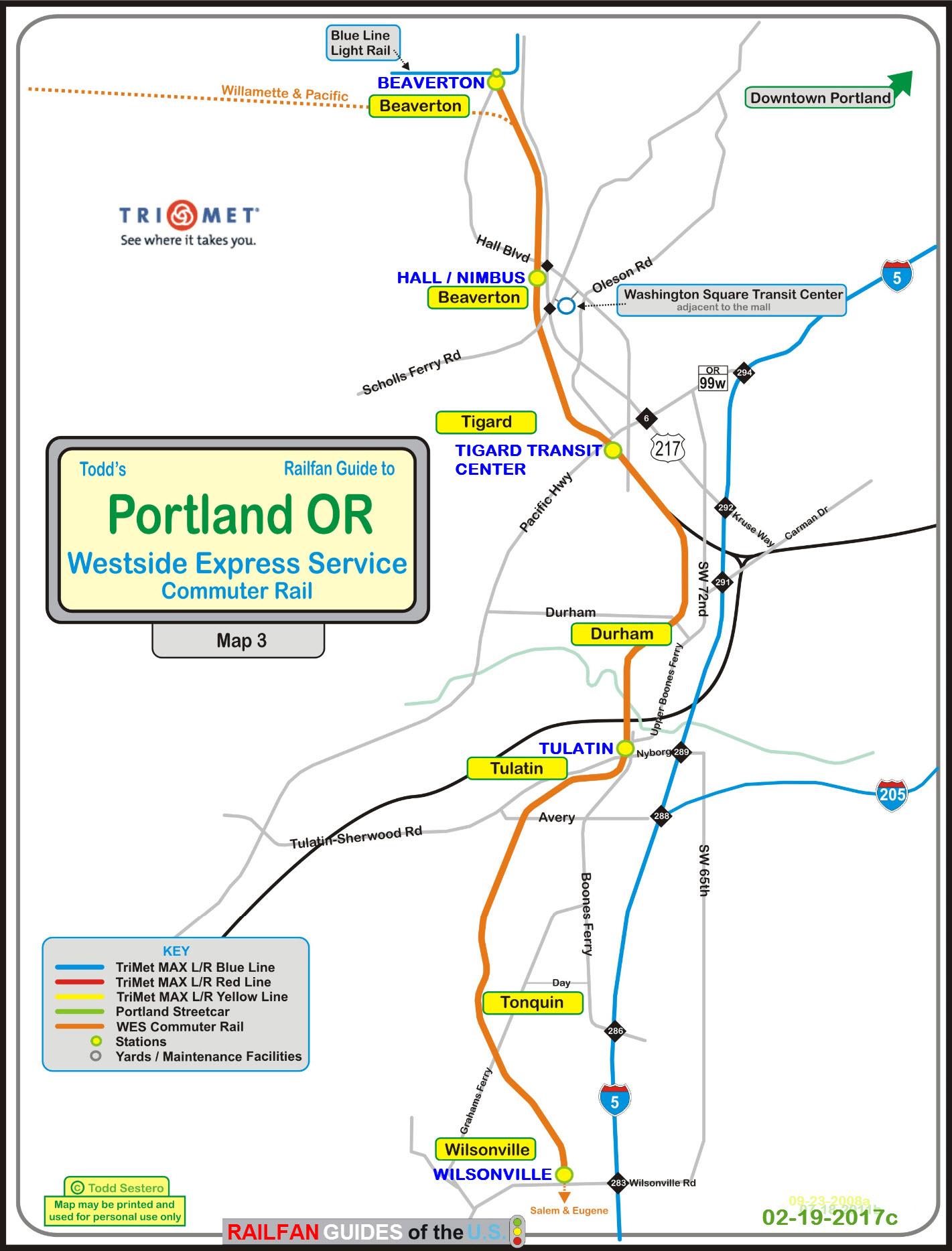 Portland OR Transit Guide  WES  The Westside Express Service