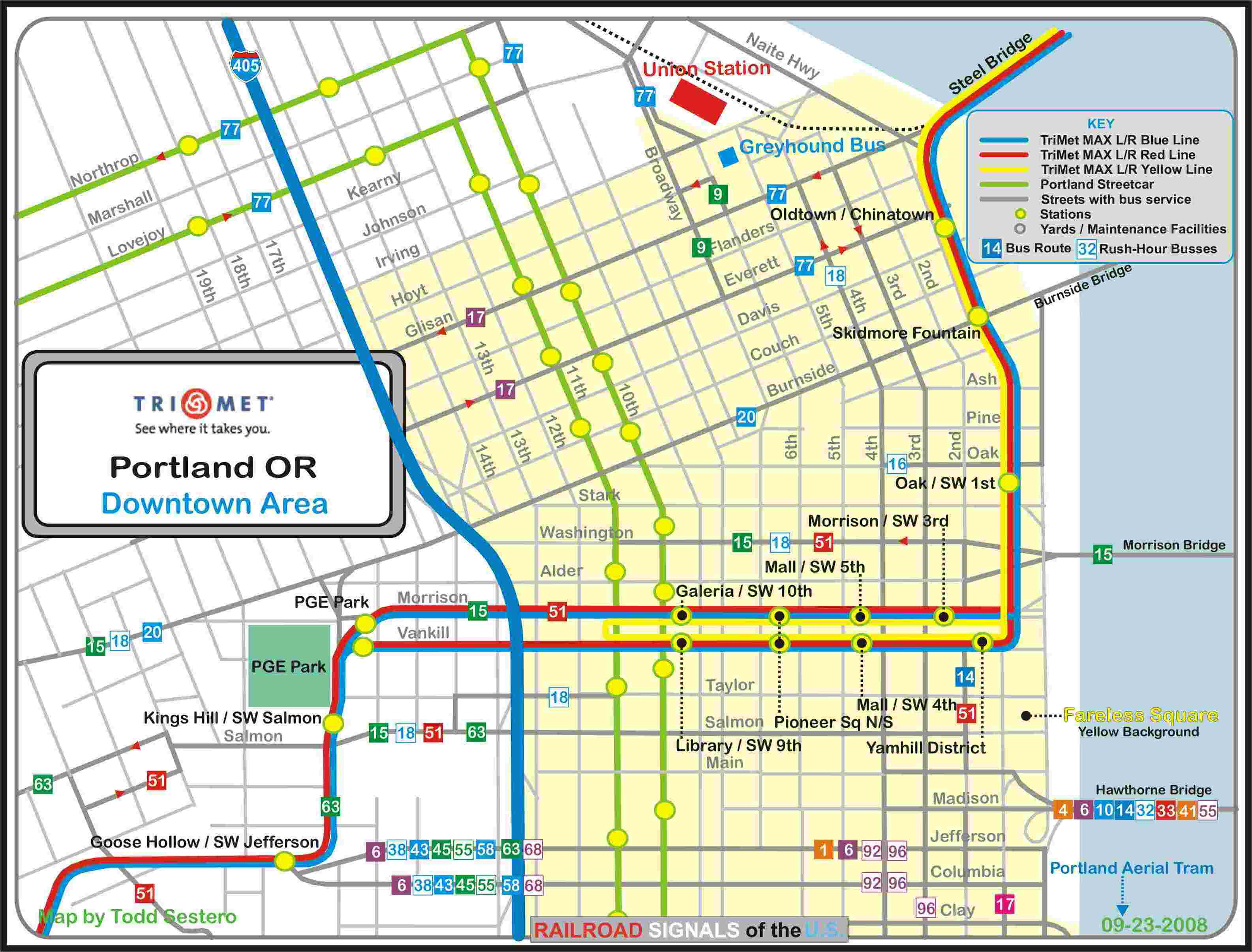 Portland OR Transit Guide  MAX Light Rail  Downtown