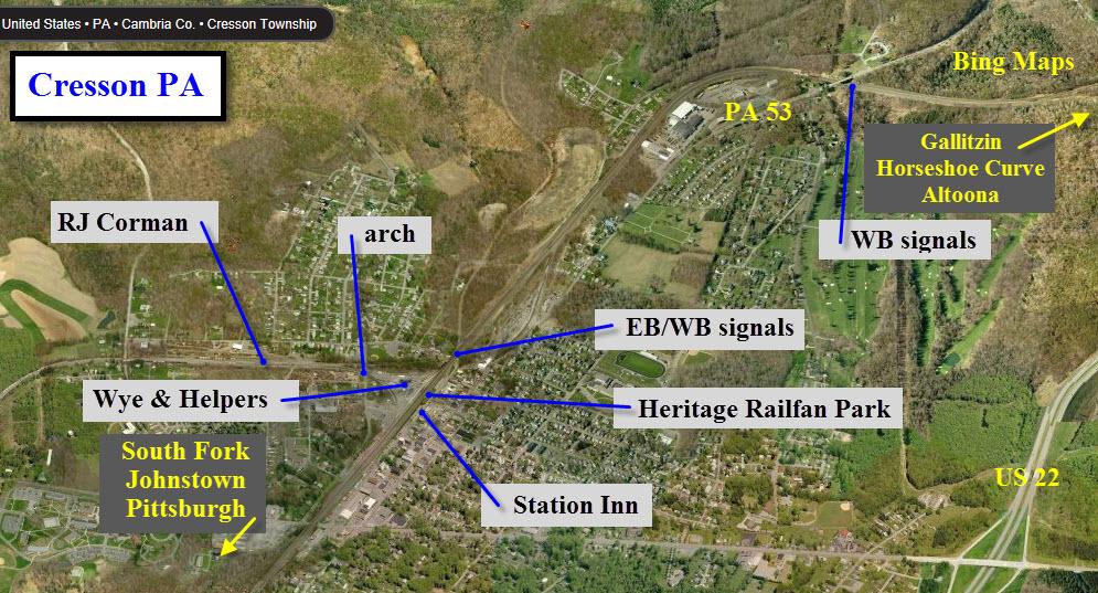 Cresson Pa Railfan Guide