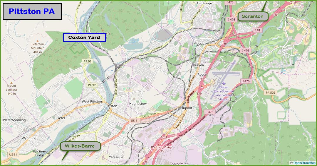 Scranton Pa Railfan Guide Pittston Pa Area