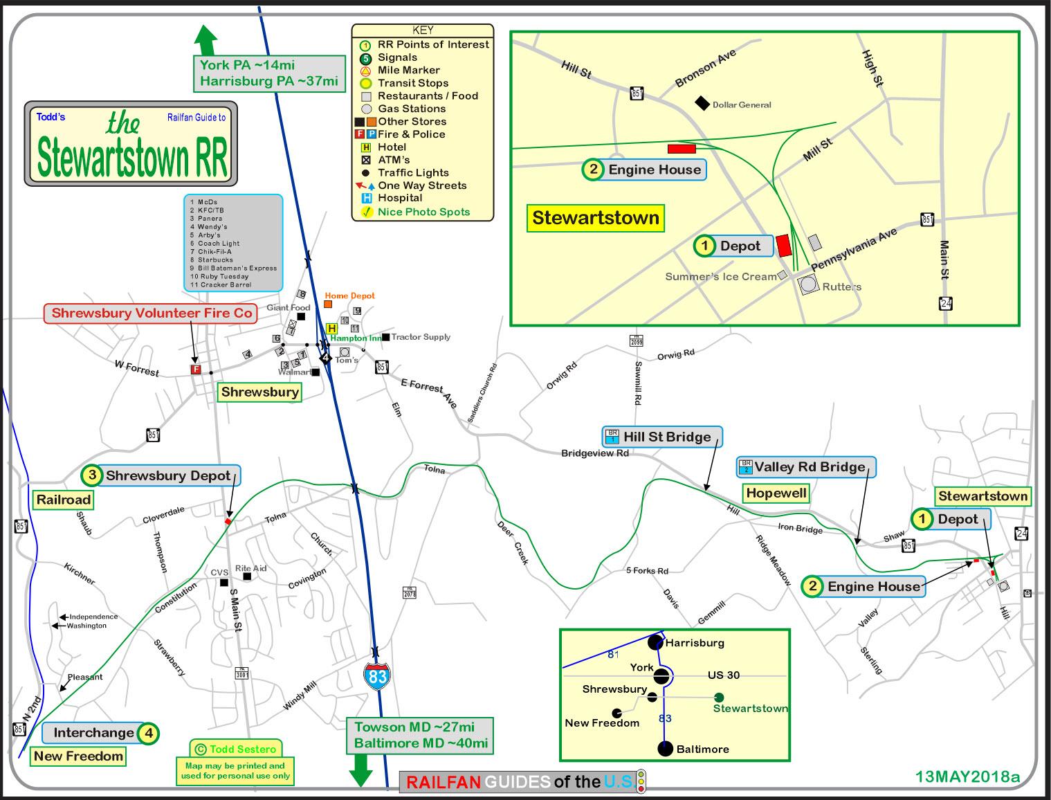 stewartstown rr railfan guide