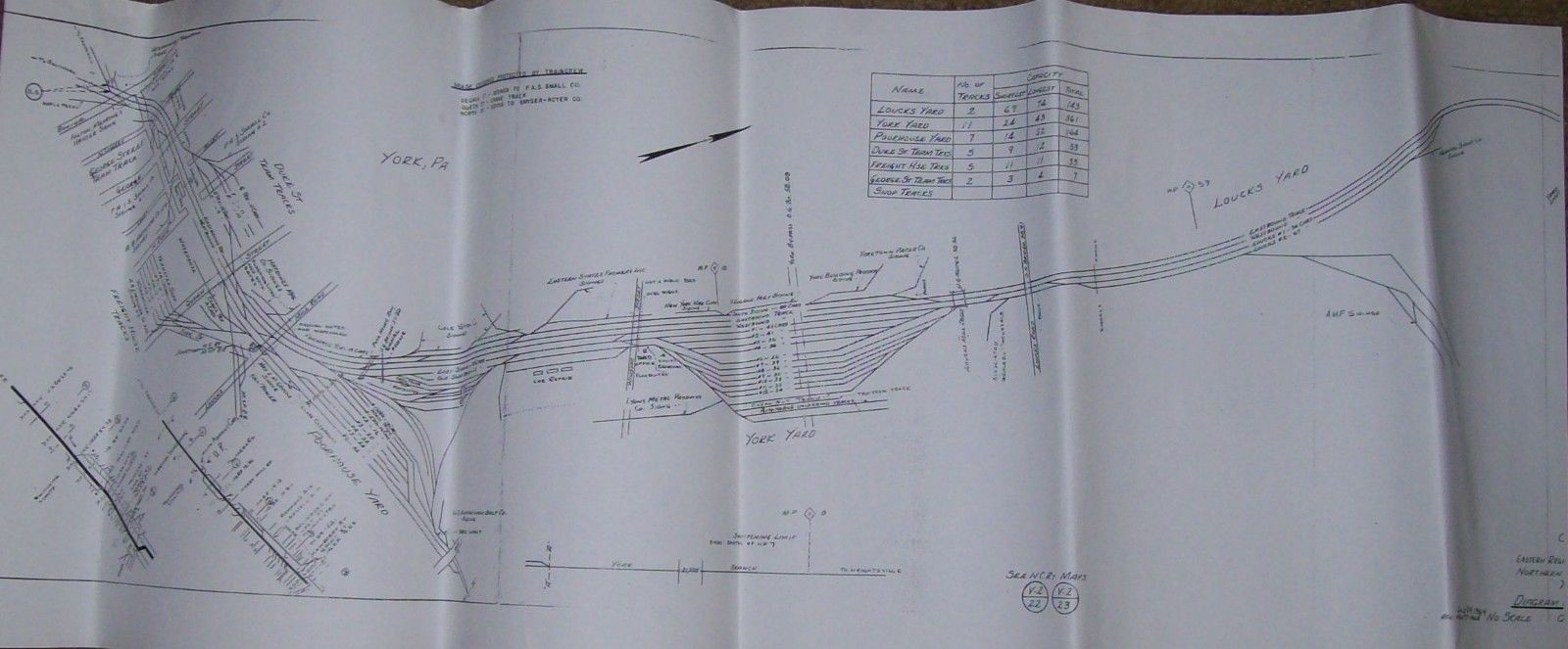 A map of the PRR yards from