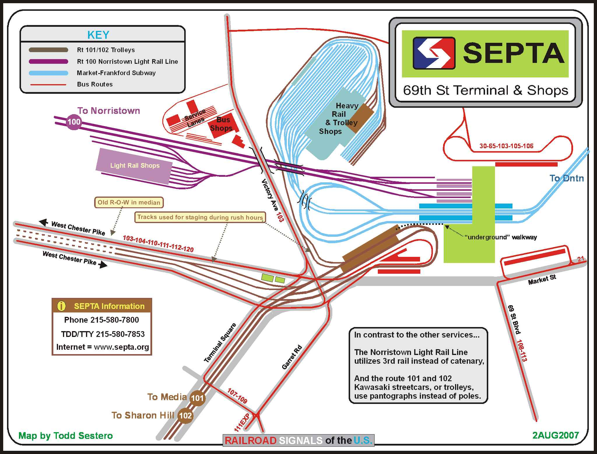 SEPTAs Th St Terminal Map - Philly septa map