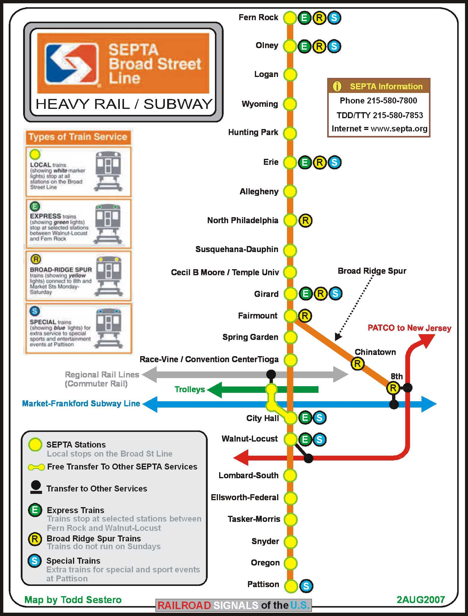 SEPTA39s Broad St Subway Line  Signal And Railfan Guide