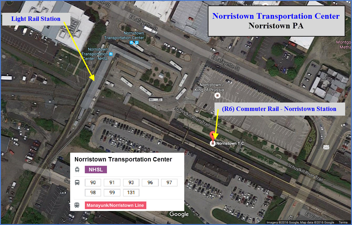 Septa S Norristown Transportation Center Railfan Guide