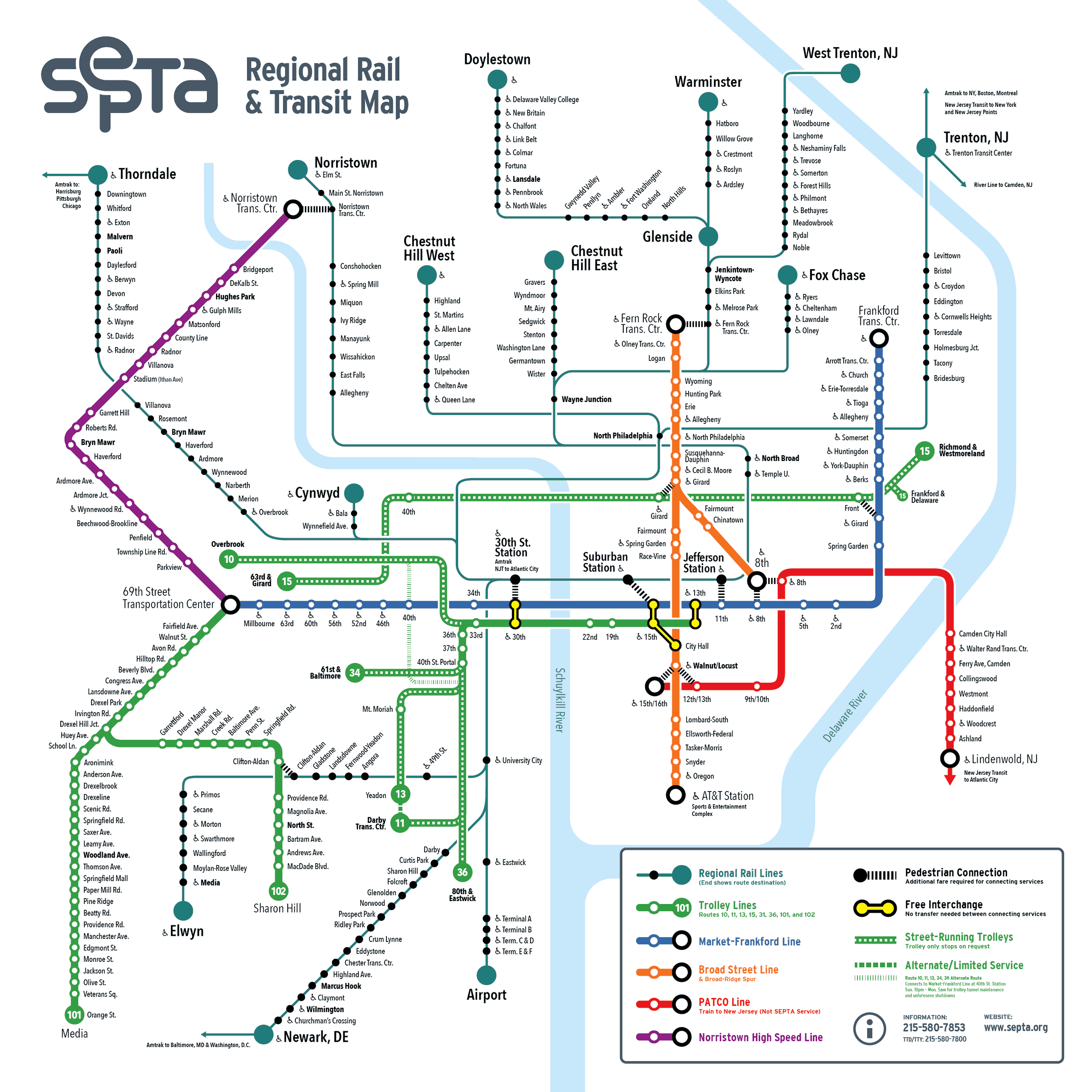 Septa Subway Map