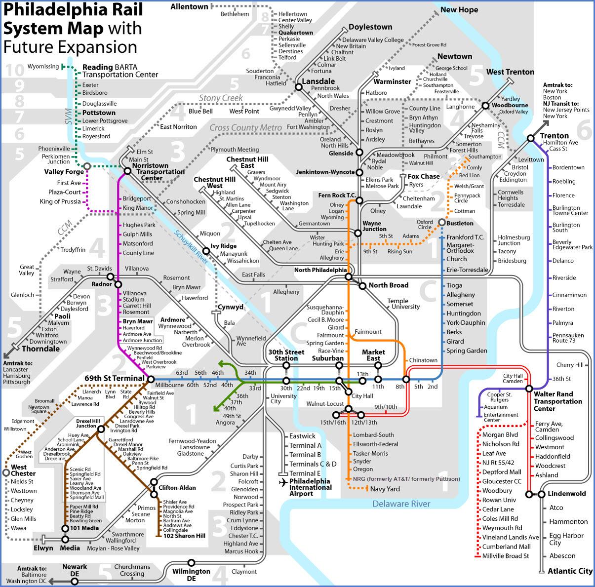 SEPTA s Rail Lines Map