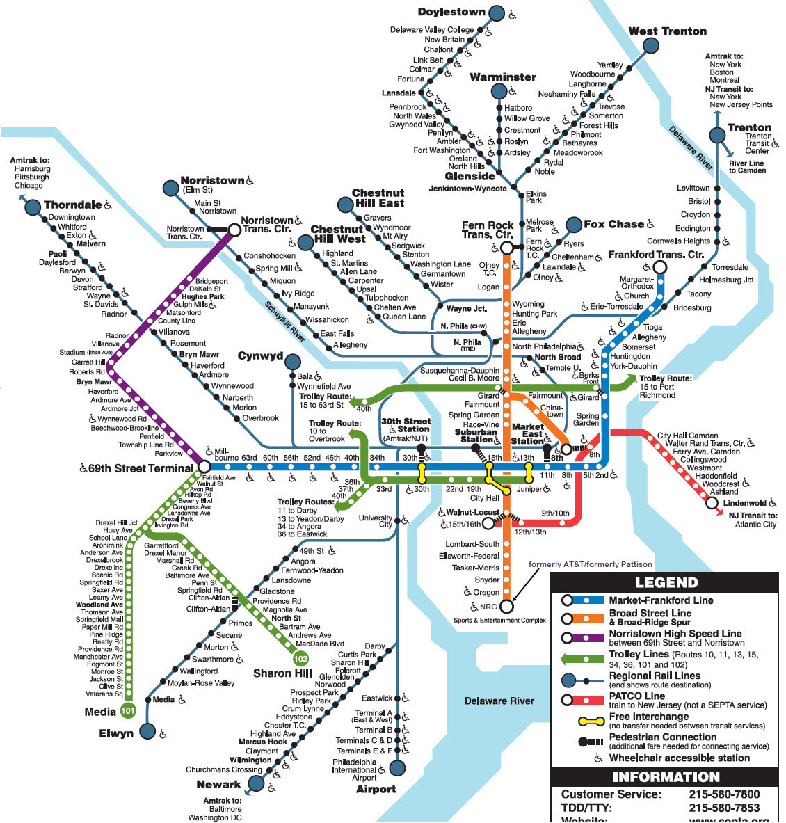 Map Philadelphia Subway System Philadelphia Subway Map Pdf