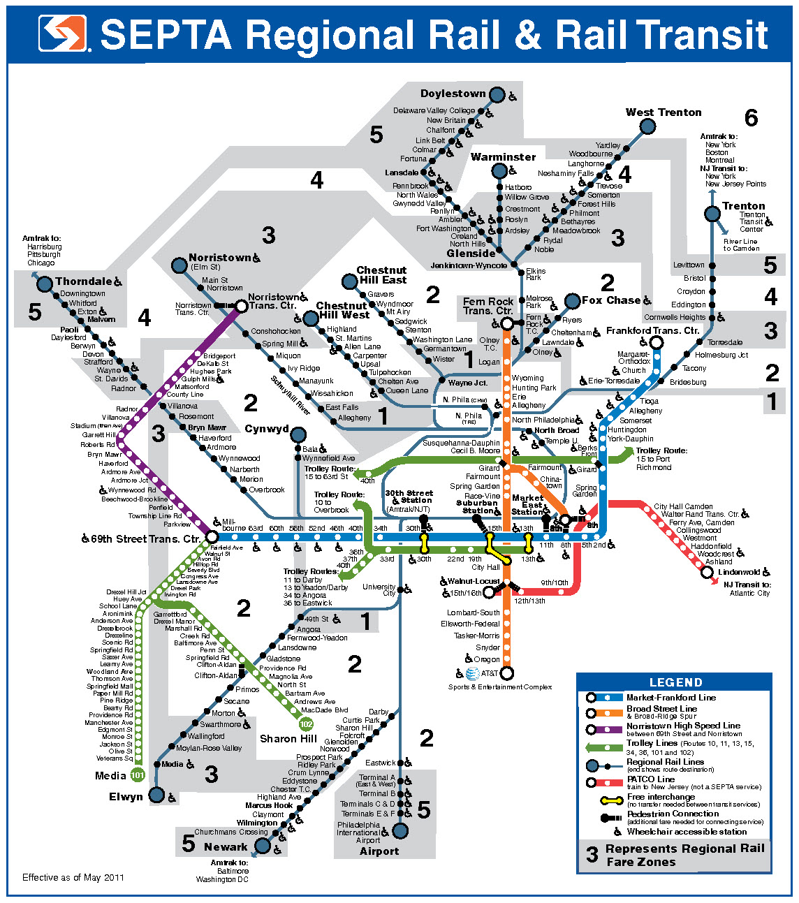 Septa Rail Map Prasnebarve - Philly septa map