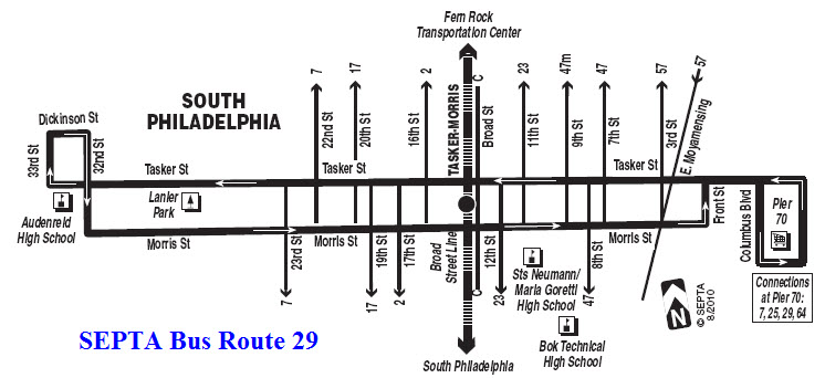 SEPTAs Trackless Trolley Lines - Us route 29 map
