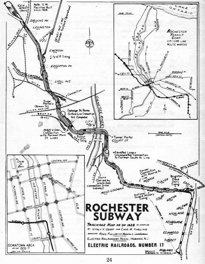 Rochster Subway Map If It Exist.Train Railroad Stations Towers Bridges Tunnels In New York