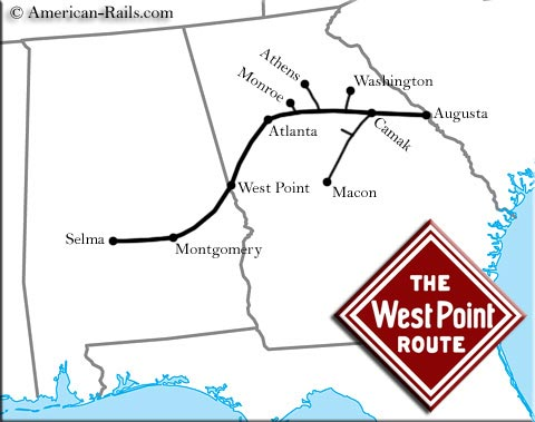 Atlanta & West Point Railroad System Map