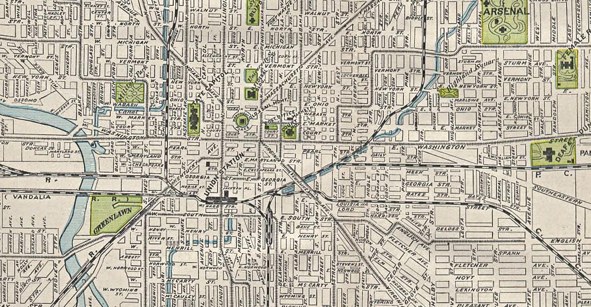 Railroad Maps Of Indianapolis IN