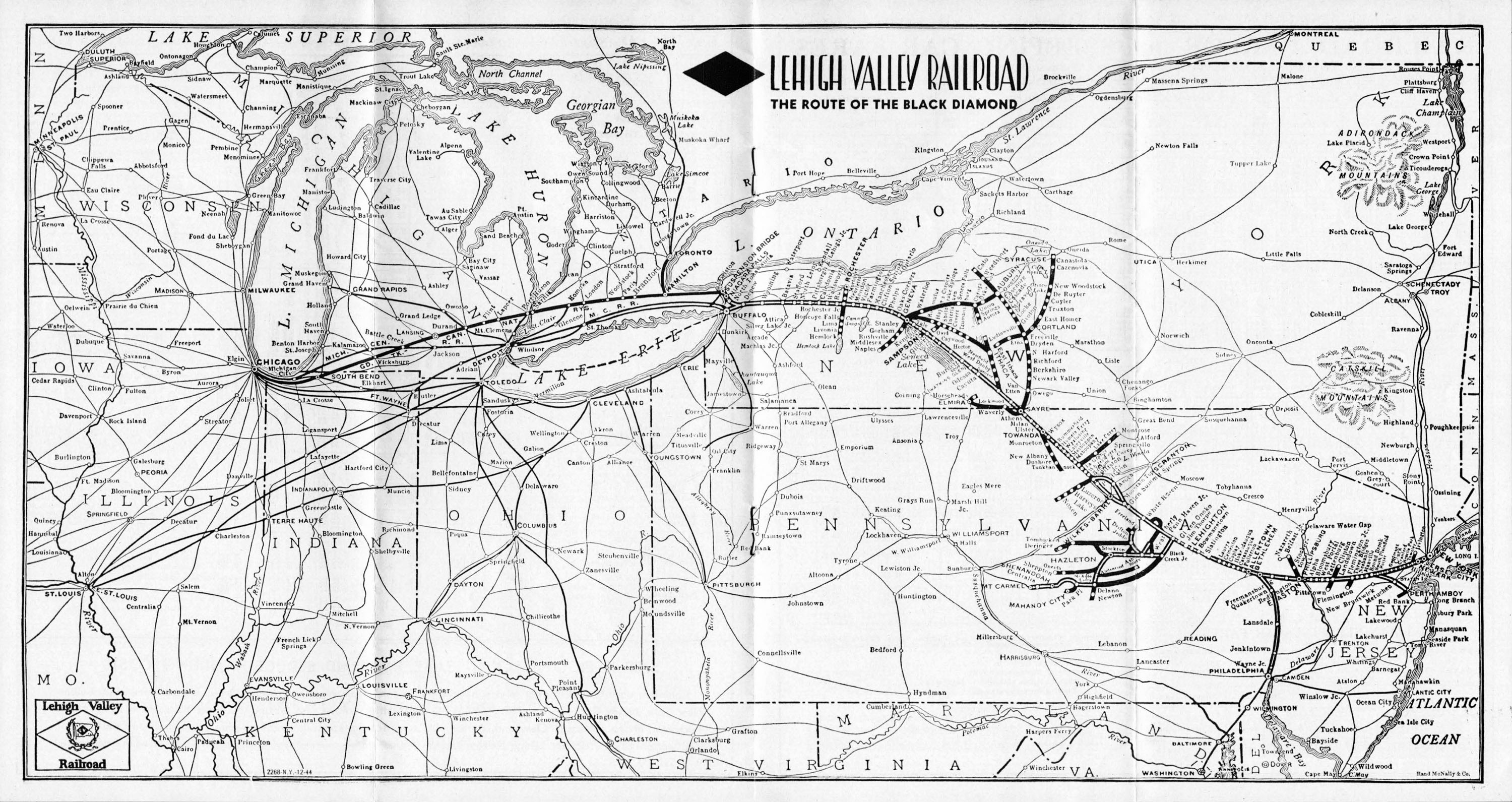 Lehigh Valley Railroad System Maps