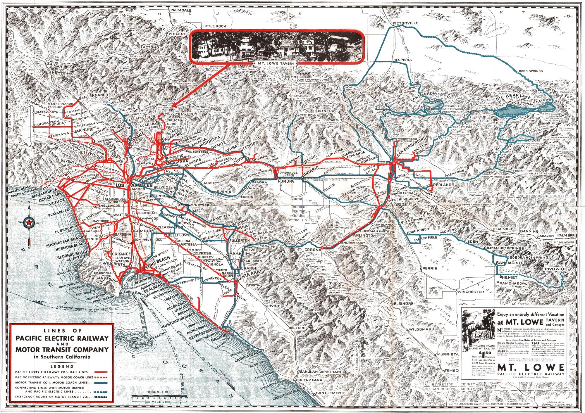 the Pacific Electric System Map