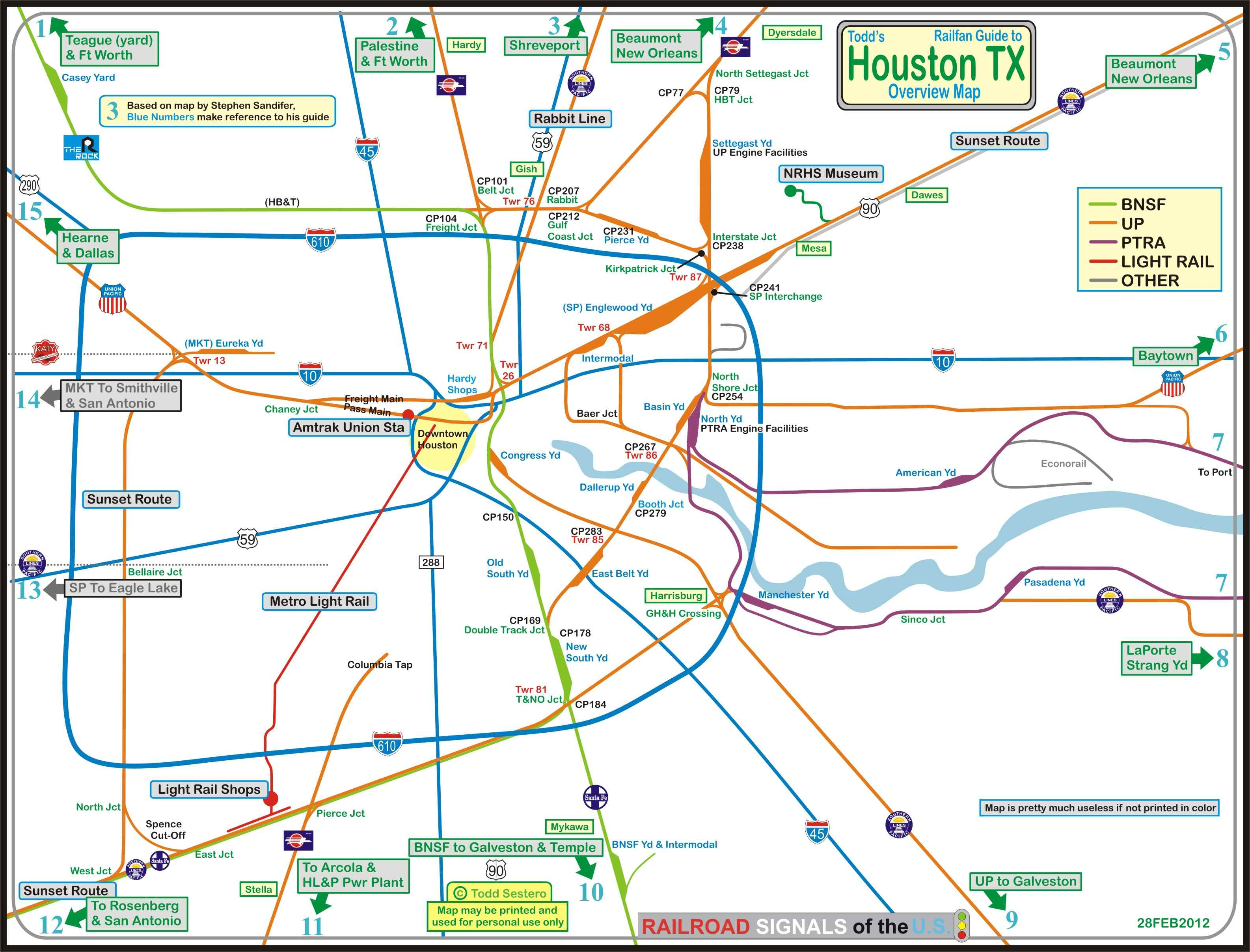 Houston Railfan Guide Homepage - Houston terminal map