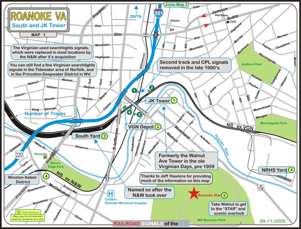 Roanoke VA Railfan Guide South