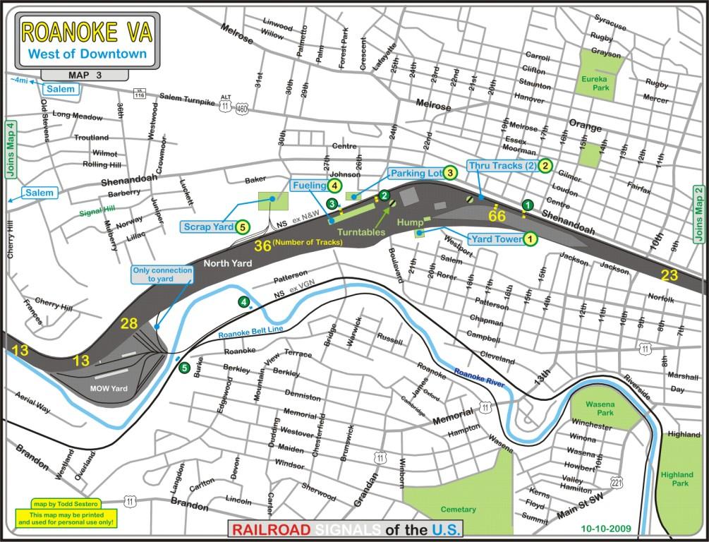 Roanoke VA Railfan Guide Westside