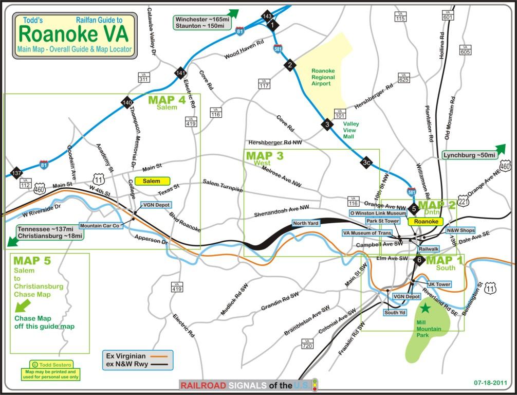 Roanoke Area Railfan Guide